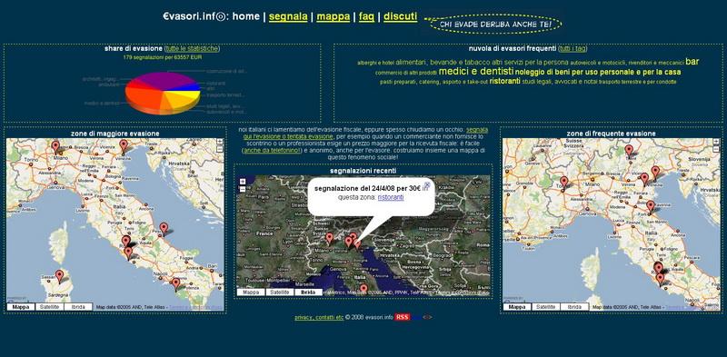 schermata evasori.info