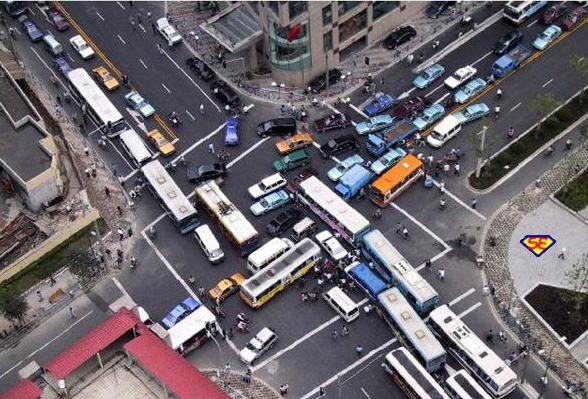 Traffico caotico