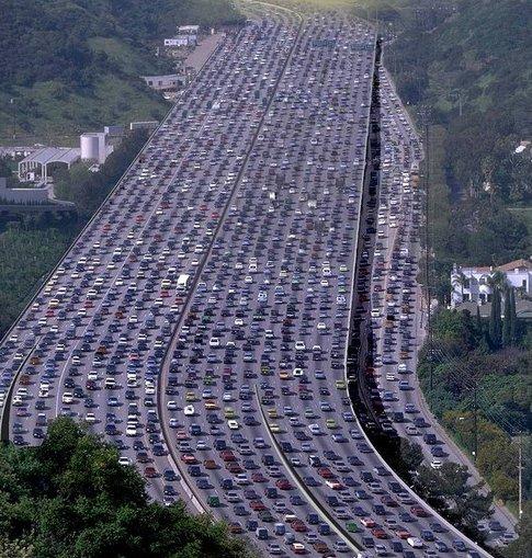 Traffico impazzito