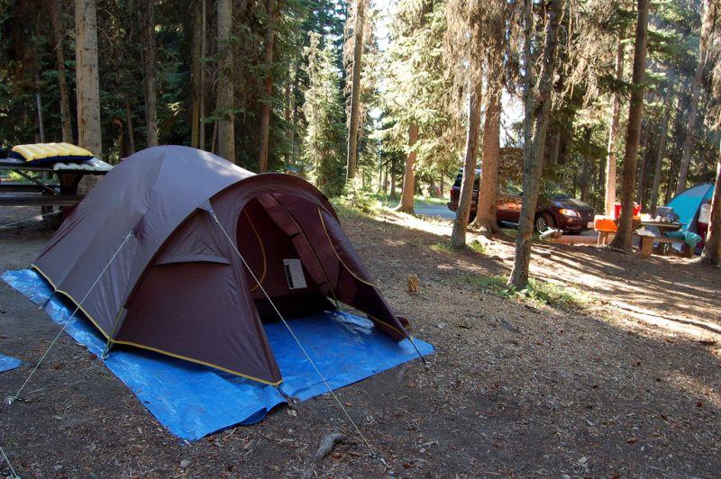 Campeggio a Yellowstone