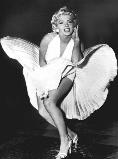 Marilyn Monroe con gonna svolazzante
