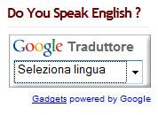Gadget di traduzione istantanea della pagina di Google