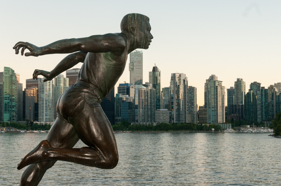 Harry Jerome – A statue of a local Olympic runner (Brockton Point, Stanley Park)