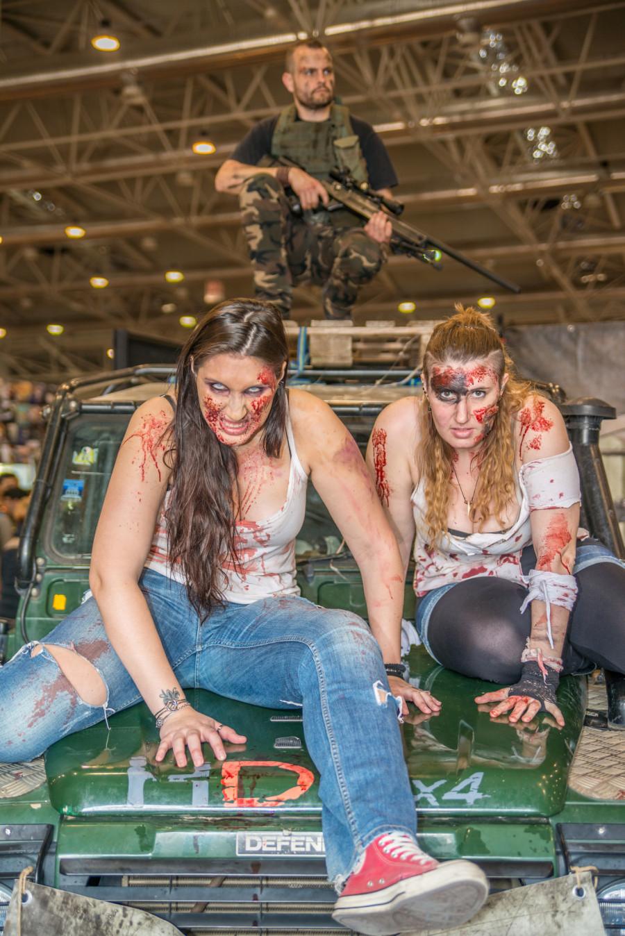 Zombie al Romics 2015